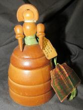 Wooden Doll Perfume Container, 5 1/2