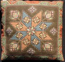 Skane pillow, dated 1834 and 1838. Initials