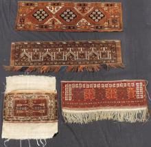 4 tribal rugs by the Ersari. Turkmenistan, old.