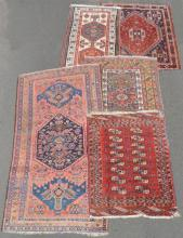 5 old Oriental rugs.