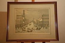 Wall Street in 1834, copyright by Sidney K Lucas