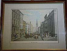 Wall Street in 1836, copyright by Sidney K Lucas