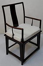 Modern hardwood armchair