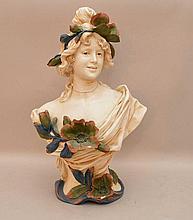 Royal Dux bust, 15