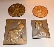 4 Bronze medallions, French and American