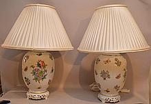 Pair porcelain Herend