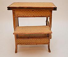 Bamboo and reeded diminutive bar/game table