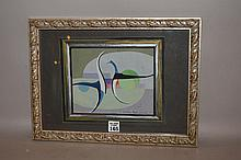 """Nils Blumer, German, early 20th Century, abstract composition, chalk/gouache, signed, image size 9 ¼ x 13 ¼ """""""