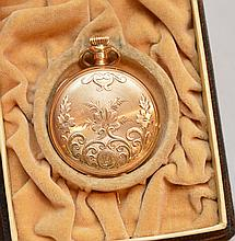 Pocket watch, 14kt gold