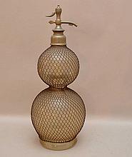 Old glass seltzer bottle, London, 19 1/2