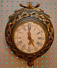 Antique Round French clock, electrified