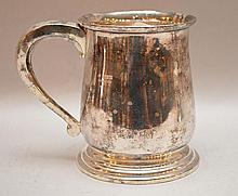 English silver mug, 10ozt, 4 5/8