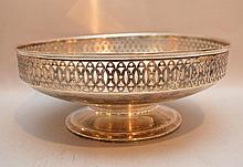Alvin sterling reticulated footed bowl, 16ozt, 3 3/4