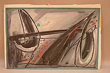 Rolph Scarlett (AMERICAN, 1891-1984) Gouache on paper, Abstract Composition, acquired from artists wife Emily.