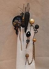 15 assorted antique hat pins