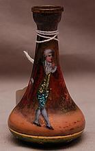French enamel vase, 3 1/2