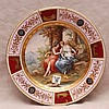 Royal Vienna wall plate, 12