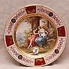 Royal Vienna wall plate, 12