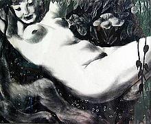 John McClellan (NY 1908-1986) Nude LithographA low