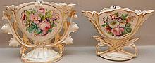 2pc. Paris porcelain vases, 7 1/4
