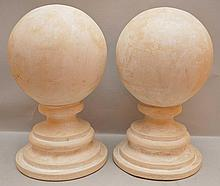 Pair of abstract spheres on tiered bases, 14 1/2