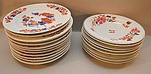 12 unmarked dinner plates (10