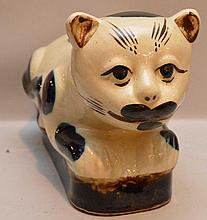 Japanese pottery cat