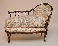 Victorian unusual settee (needs new upholstery)