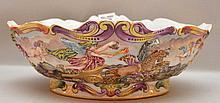 Capodimonte elaborately decorated fruit bowl, 3 3/4
