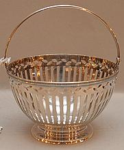 Tiffany sterling reticulated basket, 4ozt