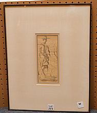 Reginald Marsh, (American, 1898-1954), Pen & Ink, Figures, 8
