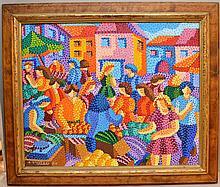 Alain Vistosi (French 1949) oil on canvas,
