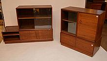4 section teakwood cabinet, 1970's, (knob as is and some scratches and wear)