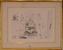 PABLO PICASSO, Spanish 1881-1973, an original framed etching 37 x 50 cm, registered and illustrated in Bloch's catalogue raisonne of Picasso's Graphic Works in Book Four as #2006. From a Limited Edition of 50 and the
