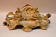 Possibly French bronze footed inkwell