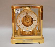 Atmos clock, presentation plaque on bottom front, 9