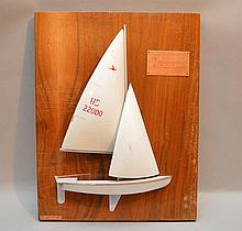 Racing ship model, Avis Renta Snipe, William Barkell, A.Y.C, 18