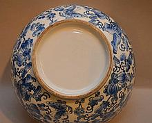 Chinese Blue & White Porcelain Bowl.  Condition: minor normal wear.. Ht. 5 1/2