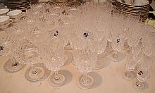 Orrefors stemware, 50pc. Set, incl; 13 tall stemmed goblets, 7 sherbets, 13 short stemmed, 18 cordials, 8 wines (one with chip)