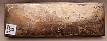 Sterling cigarette box with wood liner, 16ozt (with wood liner)