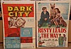 2 Movie Posters ca. 1948 Dark City & Rusty leads the way.  Both Approx 40
