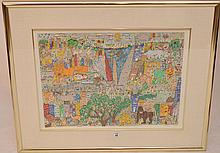 James Rizzi, (New York 1950-2011) 3D lithography,