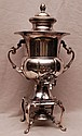 Silver plated footed hot water urn