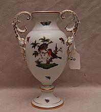 Herend double handled vase,