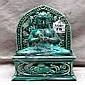 Chinese green glazed porcelain Buddha figure, 9