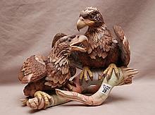 Boehm porcelain American Bald Eagle #400-49, Young & Spirited 1976, 9