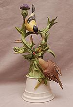 Boehm porcelain Goldfinches #457