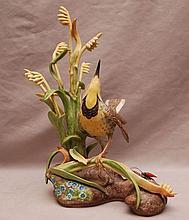Boehm porcelain Western Meadowlark #400-15, 13