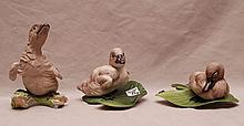 3  Boehm porcelain Cygnets, #400-27, #400-46H  and 400-13