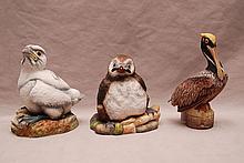 3 Boehm porcelain pieces, incl; Puffin